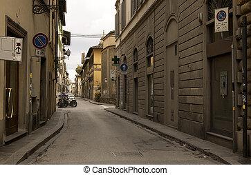 Narrow Street in an Italian Town