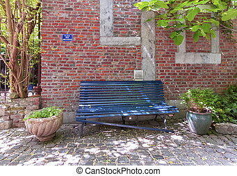 Bench for lovers, Liege, Belgium - Bench at the place for...