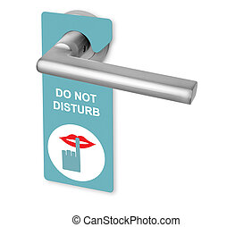 Do not disturb on door handle