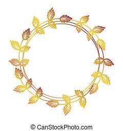 Hand drawn floral wreath - Hand drawn autumn floral wreath...
