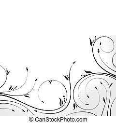 Floral design - Floral scroll, element for design, vector...