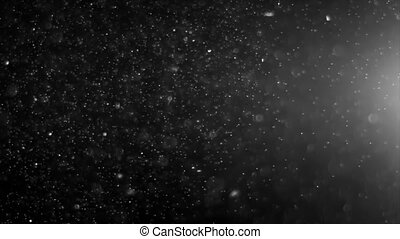 Abstract Light and Dust Particles - Dust Cloud Isolated...