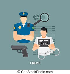 Law concept with crime