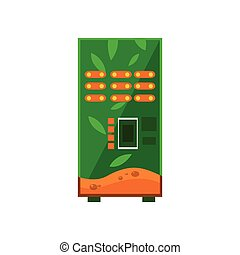 Hot Drinks Vending Machine Design In Primitive Bright...