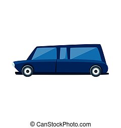 Limousine Toy Cute Car Icon Flat Vector Transport Model...