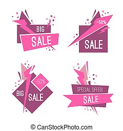 Set of big special sale banners.