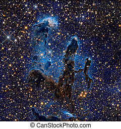 Pillars of Creation. Eagle Nebula in the constellation...