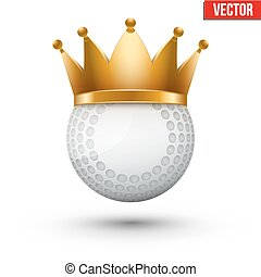 Hockey field ball with royal crown. King of sport....