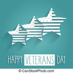 Veterans Day poster. Blue background with handwritten text....