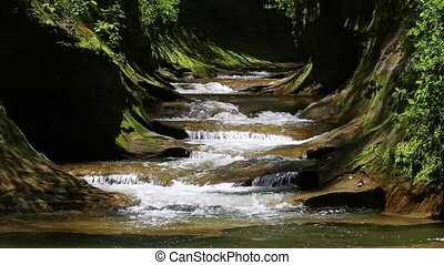 Fall Creek Gorge Loop - Seamless loop features water...