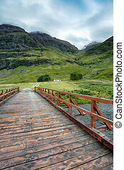 Cottage in the Mountains - A mountain cottage at Glencoe in...