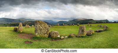 Panoramic View of Castlerigg Stone Circle - A panroamic view...