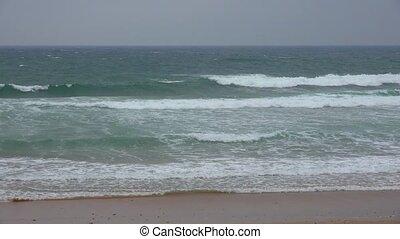Ocean Waves At Coastal Beach