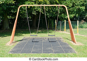 Swings - Empty swings in a playground