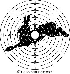 rabbit target - shooting target rabbit for shooting range,...