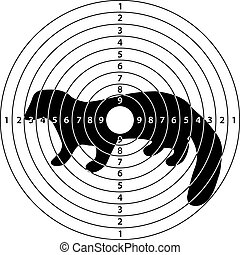 ferret marten target - shooting target ferret, marten for...