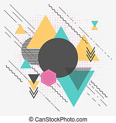 Abstract geometric modern background with triangles