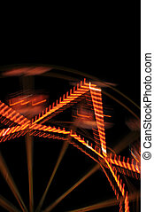 ferris wheel lights - Ferris wheel lights at night abstract...