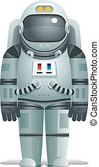 Cosmonaut Realistic 3d Astronaut isolated Spaceman Space...