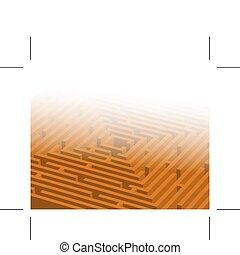 big orange maze / labyrinth