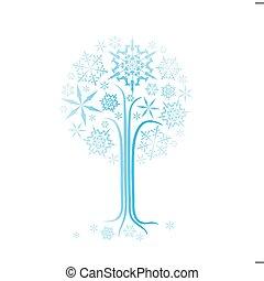 Abstrakt, baum, Weihnachten,  Winter