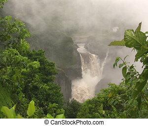 San Rafael Falls, Ecuador - large waterfall in the...