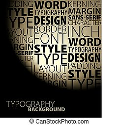 Abstract design and typography background - Dark Abstract...