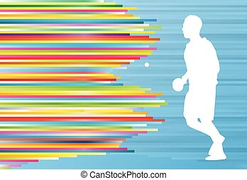 Table tennis player ping pong game vector abstract...