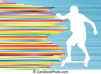 Skateboarding vector background abstract illustration with...