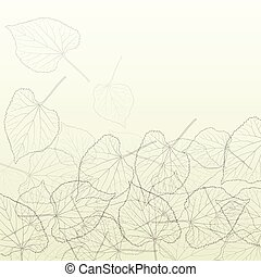 Leaves transparent background vintage illustration abstract vector with outlines and leaf veins