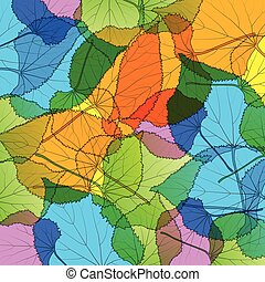 Leaves autumn colorful modern background vector abstract...