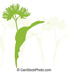 Linden flowers ecology background vector abstract...
