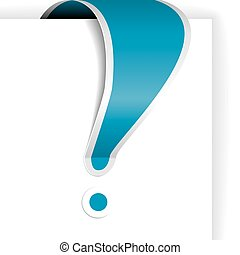 Blue exclamation mark with white border