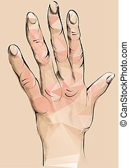 arthritis abstract human hand with deformed fingers