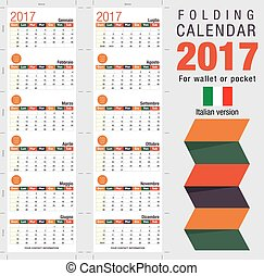 Useful foldable calendar 2017, ready for printing. Open...