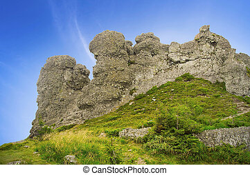 Rock formation in Carpathians mountains, Romania