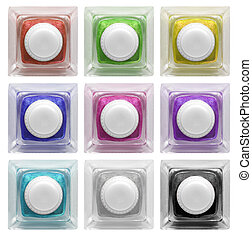 Real glass button set 3 | Isolated - Real glass button...