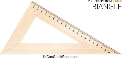 Wooden vector triangle - Wooden triangle with metric mm...