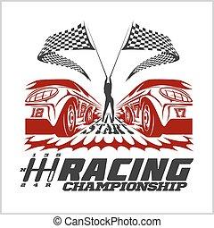 Racing Championship emblem - Racing Championship emblem -...