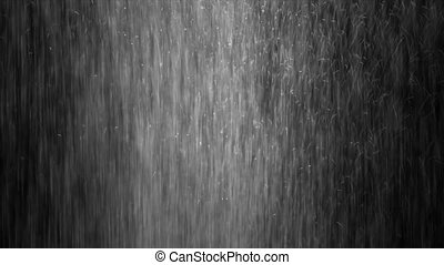 Raindrops of White Water on Glass.