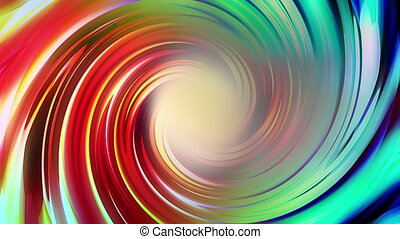 Multi color looping spiral - Animated multi color looping...