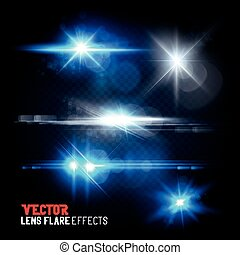 Set of Vector Lens Flares