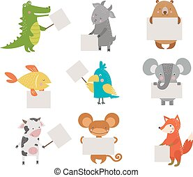 Cute animals vector character isolated on white backgrund....