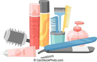 Hair style bottle vector. - Gel foam or liquid soap...