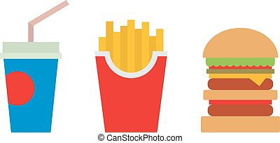 Hamburger fast food vector - Hamburger fast food and coke...