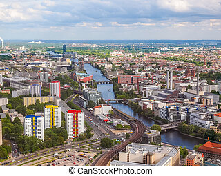 Berlin aerial view HDR - High dynamic range HDR Aeria view...