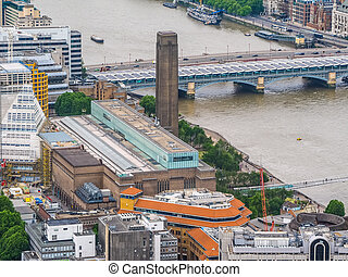 Aerial view of London HDR - High dynamic range HDR Aerial...