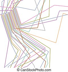 Colorful lines abstract seamless pattern. Electric wire