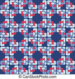 Celtic knot abstract seamless colorful pattern. Vector...