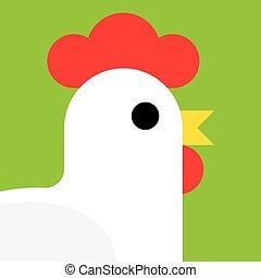 cartoon rooster vector illustration.